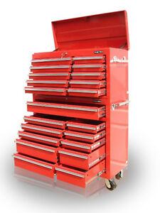 30-US-PRO-Tools-Red-Steel-Chest-Box-Snap-It-Up-cabinet-toolbox-FINANCE-AVAILABLE