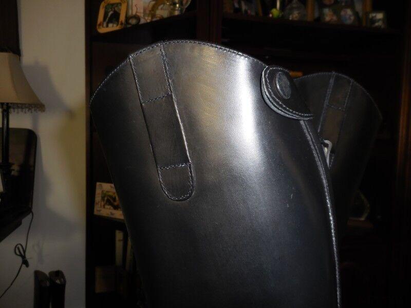 Nuevo Nuevo Nuevo En Caja Ovation finalista Pro todo el cuero negro Botas de Campo señoras con cremallera trasera Talla 6R 7032f2