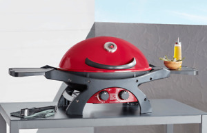 Ziggy by Ziegler & Brown Portable BBQ Twin Grill LPG Model - Chilli Red