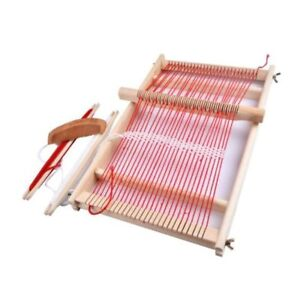 Wooden Weaving Loom Craft Yarn DIY Hand Knitting Machine Kids Educational To YTE