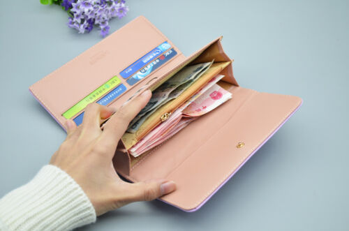 ladies women Quality Top Leather money Long Wallet Credit Card Holder Purse UK