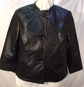 3 Jacket picone Slv cotton Black Poly Sz Shorty Evan 12 Crinkly Lined Ladies 4 RqHw0pxK