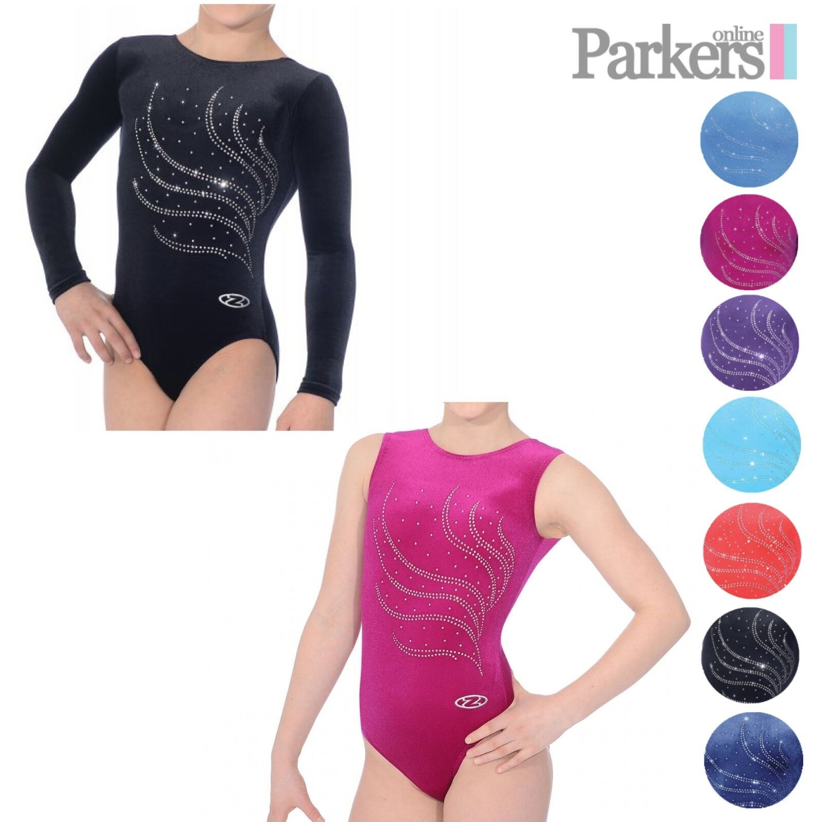 NEW GIRLS ZONE LONG SLEEVE SLEEVELESS TIARA LEOTARD DANCE GYMNASTICS SIZE 24-38
