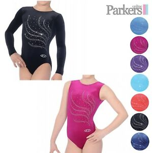 NEW GIRLS ZONE LONG SLEEVE SLEEVELESS TIARA LEOTARD DANCE GYMNASTICS ... a2ee132ab67