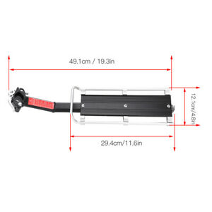 Bicycle-Bike-Alloy-Seatpost-Mount-Rear-Rack-Carrier-Aluminum-Alloy-Quick-Release