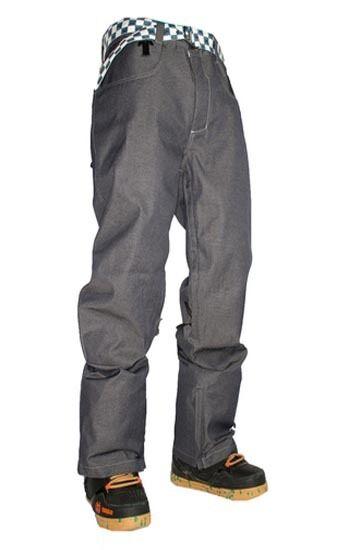 NEW WITH TAGS Technine NINES DENIM Snowboard Pant INDIGO MEDIUM-2XLARGE SHELL