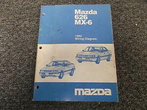 1992 Mazda MX-6 Electrical Wiring Diagram Manual Book ...