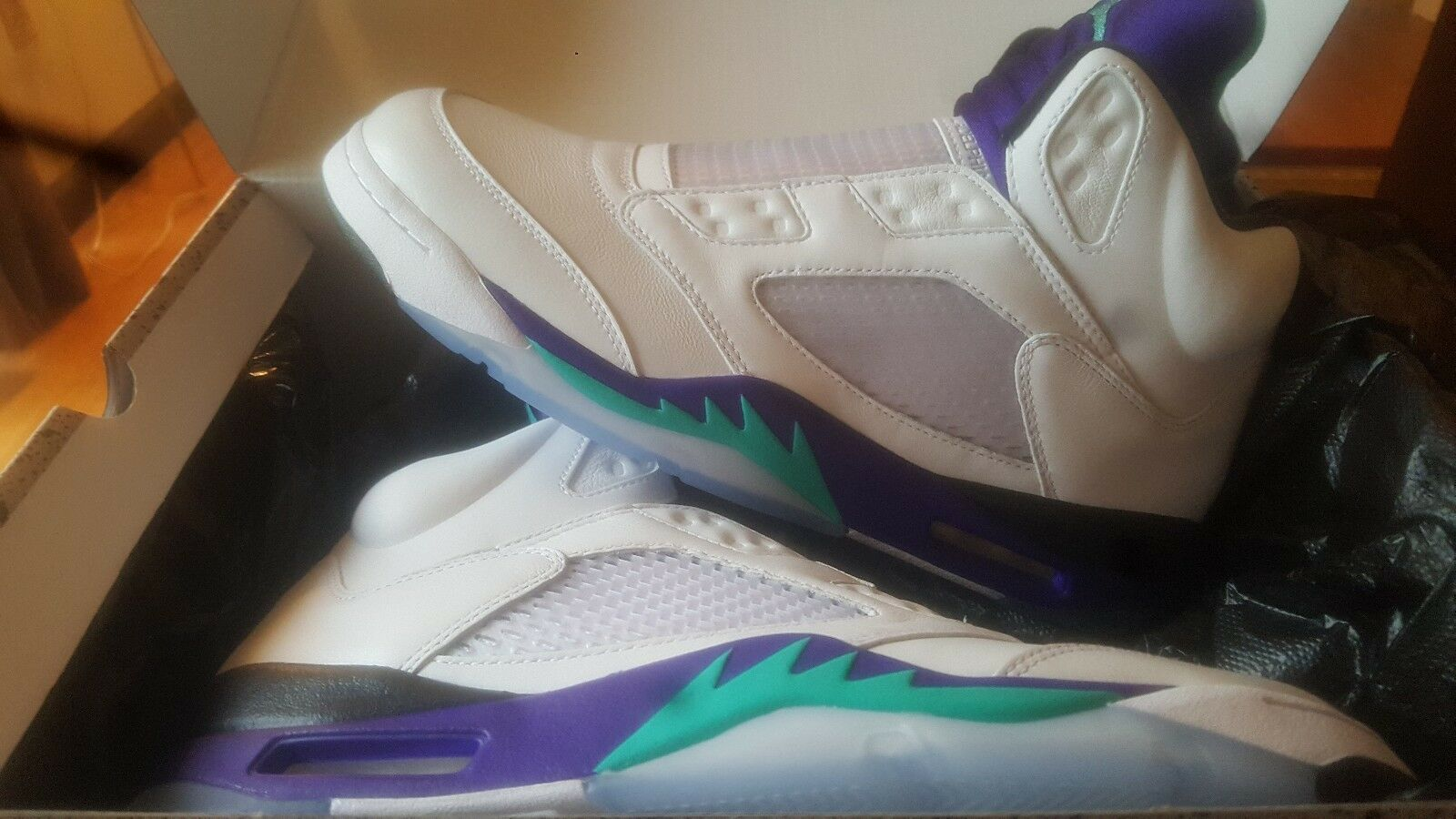 4708a145f92 Nike Jordan 5 Grape Fresh Prince White Purple Will Smith SIZE 12 Get em now  Air nxdbnd1688-Athletic Shoes