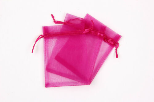 100 LUXURY Organza Gift Bags Jewellery Pouches XMAS Wedding Party Candy Favour