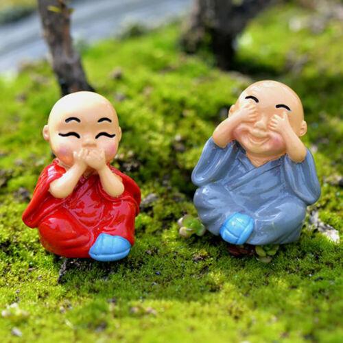 Fairy Garden Sculpture Home Decor Toy Monk Figure Ornament Figurine Miniature