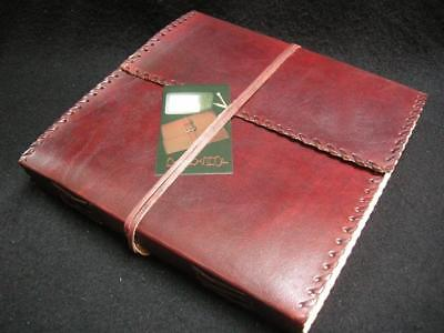 Pages of Handmade Cotton Paper Large Handmade Leather Sketchbook Diary Journal