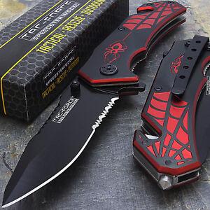 """7.5"""" TAC FORCE SPIDER SPRING ASSISTED TACTICAL FOLDING KNIFE Pocket Blade Assist"""