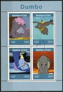 Chad-2019-CTO-DUMBO-4v-M-S-Elefanti-Disney-Cartoni-Animati-Animazione-TIMBRI