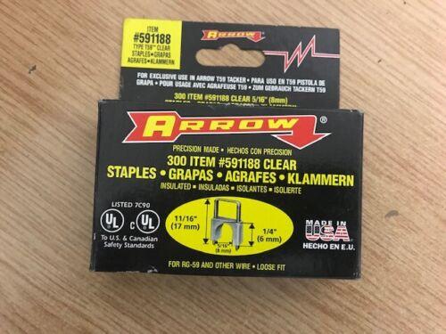 Arrow T59 6 x 8 mm CLAIR Insulated Staples Pack de 300