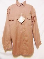Al Agnew Afico Bluewater Mens Button Front Shirt Xl Tan Embroidered Bass New/tag