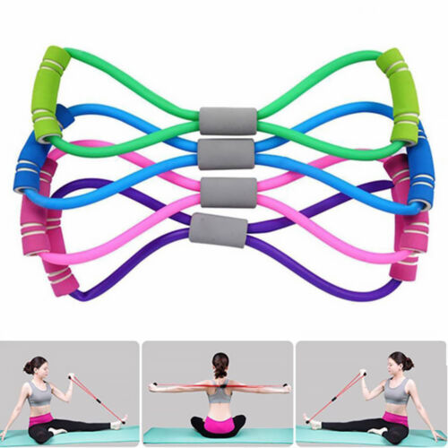 Stretch Band Rope Latex Rubber Arm Resistance Fitness Exercise Pilates Yoga Gym/&