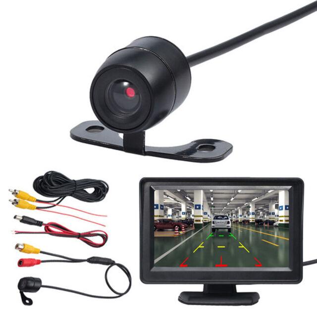 Night Vision CMOS Car Rear View Reverse Backup Parking HD Camera Back Monitor