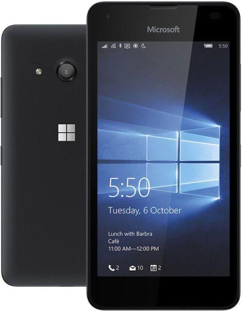 ** Nuovo Di Zecca ** Lumia 550 8GB Microsoft Windows 10 Cellulare-Nero Sbloccato ** **