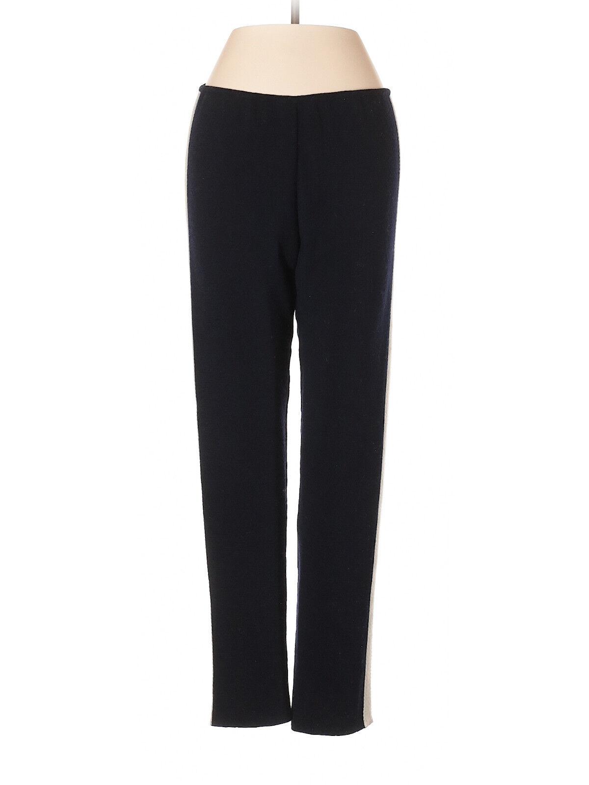 Marni bluee Wool Pants w  Tan Piping, Size 10 (US) 42 (IT)
