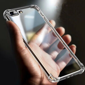 Anti-fall-Clear-Soft-TPU-Case-for-iPhone-X-8-7-XS-Max-Transparent-Cover