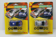 2012 Micro Scalextric Peugeot 206 Total #1 + #3 WRC Rally HO Slot Car G2034-35