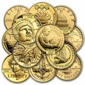 SPECIAL PRICE! U.S. Mint Gold $5 Commem BU/Proof (AGW .24187 oz, Capsule only)