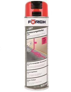 Vernice-delimitazione-L297-neon-rosso-500-ml-Contenitore-spray-FORCH-6280K2041