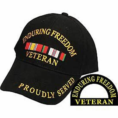 ENDURING FREEDOM VET PROUDLY SERVED HAT COMBAT ACTION