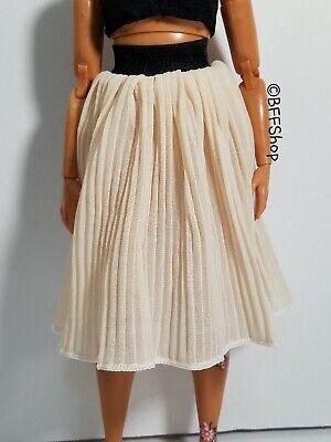 BEIGE PLEATED SKIRT BARBIE FASHIONISTAS FASHION CLOTHES NEW