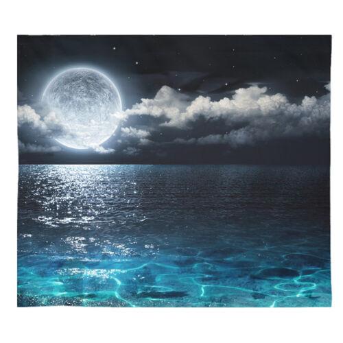 Full Moon Over Ocean Tapestry Beach Tapestry Full Moon Tapestries Ocean