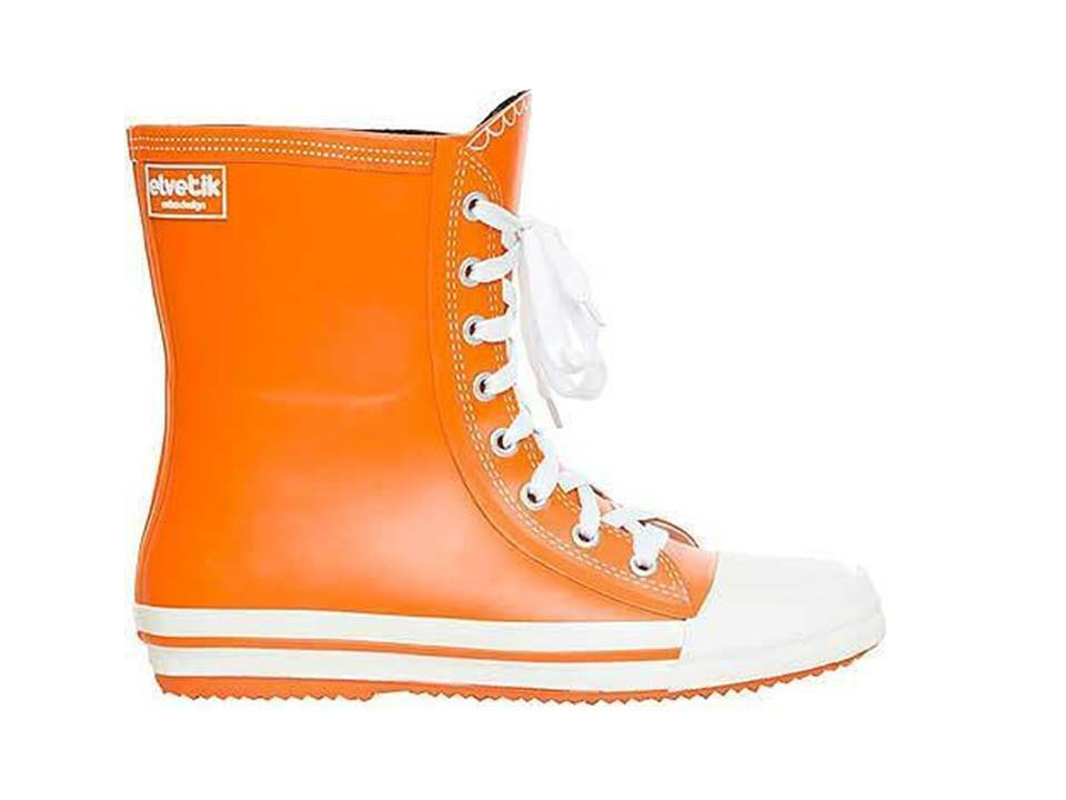 Ladies Wellington Rain Welly Natural Orange Natural Rubber  Offer Uk 6 Last Pair