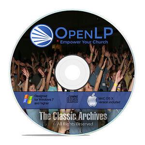 Details about OpenLP Professional Church Worship Presentation Bible  Software Win Mac CD F19