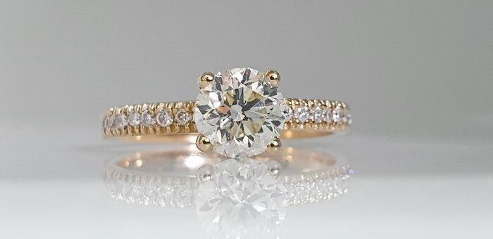 Ring, diamant, Diamantring 1.35 carat