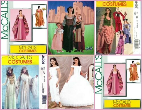 OOP McCall/'s Sewing Pattern Misses Renaissance Fantasy Medieval Costume You Pick
