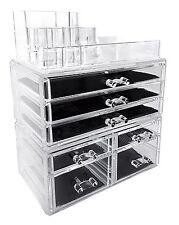 Acrylic Makeup Cosmetic Organizer Storage Display Drawer Jewelry Holder Box Case