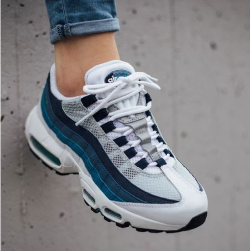 NIKE AIR MAX 95 OG TRAINERS UK 8 EUR 42.5 WHITE EMERALD SLATE blueE 1 90 97 BW TN