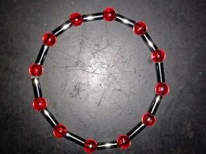 BRACELET-RAINBOW-RED-BEADS-WITH-METAL-TUBE-26