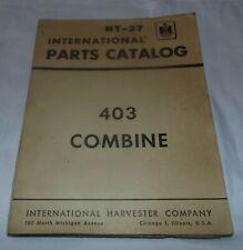 International Parts Catalog Ht 37 403 Combine Vintage Tractorih Harvester