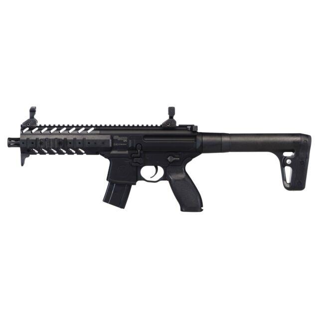 Sig Sauer MPX ASP Air Rifle with 30-Round Pellet Magazine AIR-MPX-177-88G-30-BLK