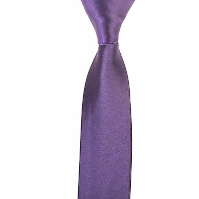 "Mens Boys 2"" Skinny Slim Tie 20+ All Colours 99p Wedding Work Party Silk Blend"