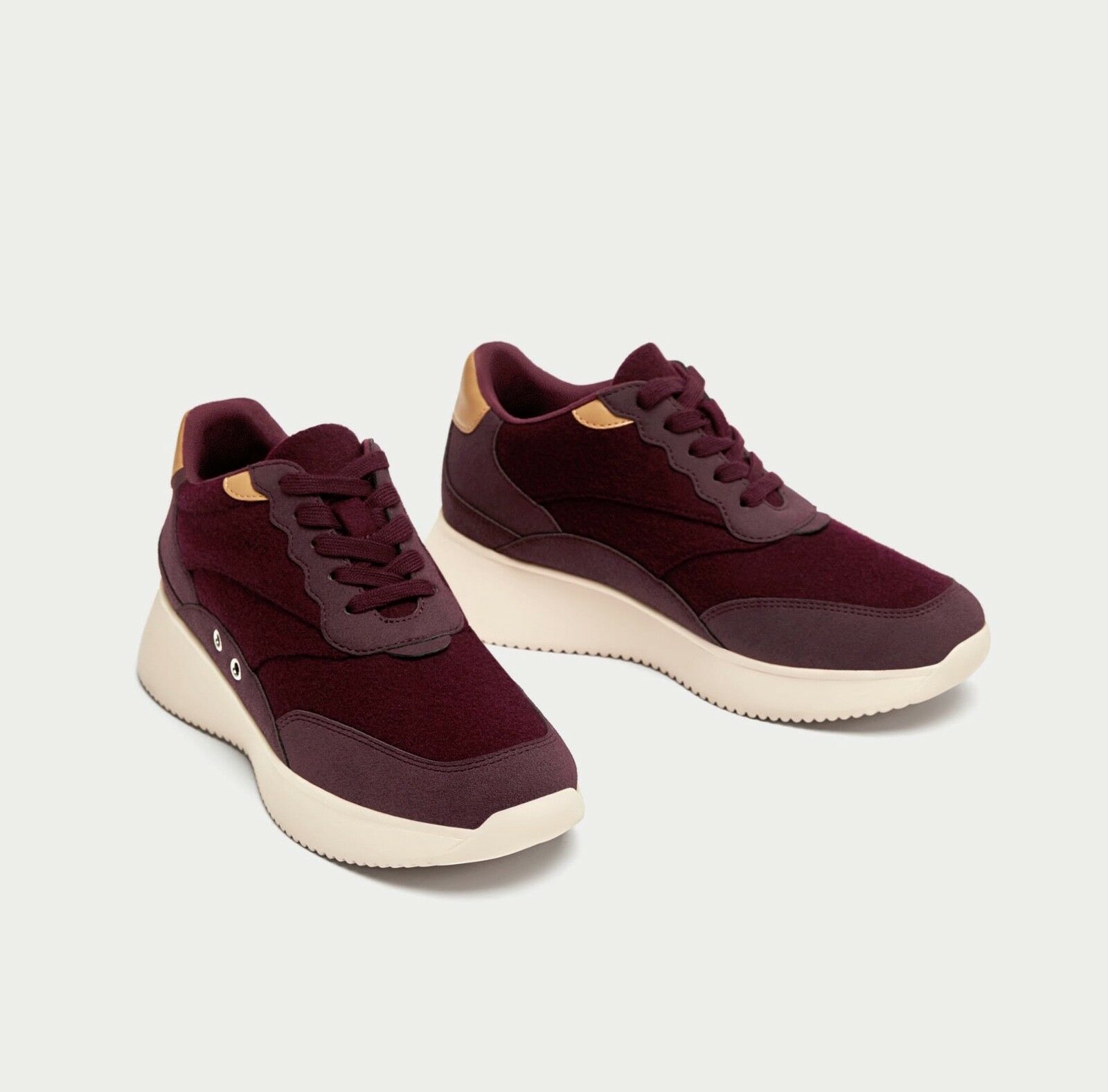 New Zara Burgundy sneakers (Größe 7)