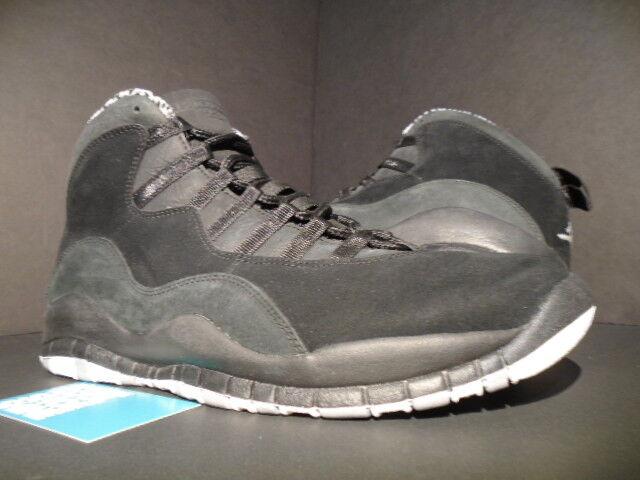 2012 Nike Air Jordan X 10 Retro noir blanc STEALTH Gris SHADOW 310805-003 10.5