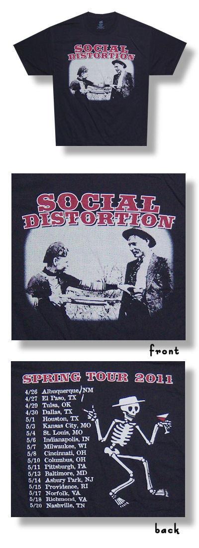Social Distortion - Spring 2011 Tour 2XL  NEU US Import