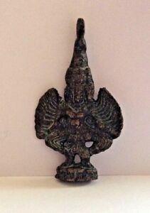 Amulette statuette pendentif en bronze cuivré BOUDDHA GRELOT Cambodge
