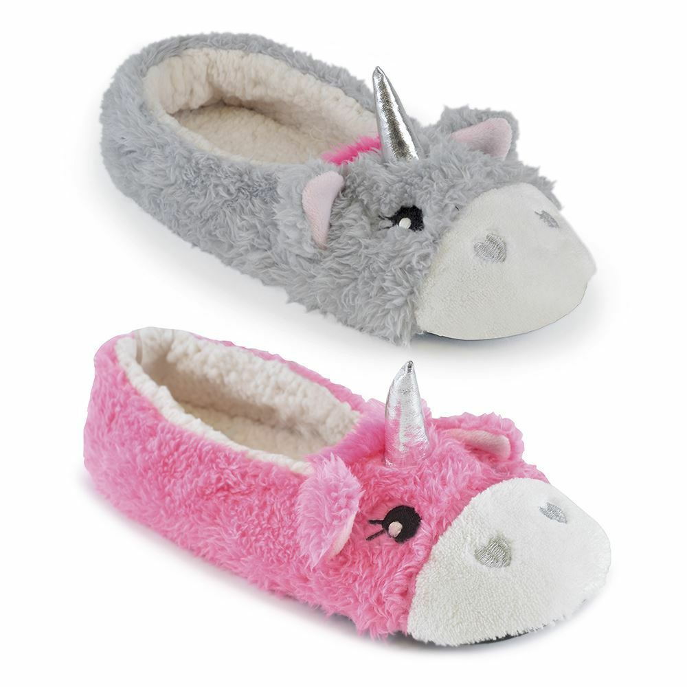 Women's Unicorn Ballet Slippers, Slippers Super Soft Coral Fleece Slippers Slippers, Tootsies, F63 7e443e