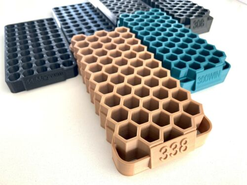 50 Rounds Capacity. Strong PLA Plastic 45-70 Bullet Reloading Tray