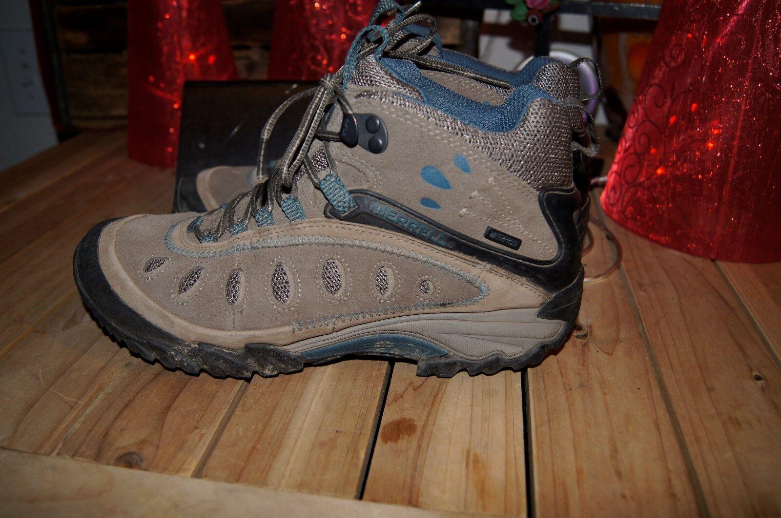 merrell boots 7.5  hiking boots 7.5 waterproof boots 7.5 merrells 7.5 Worn once
