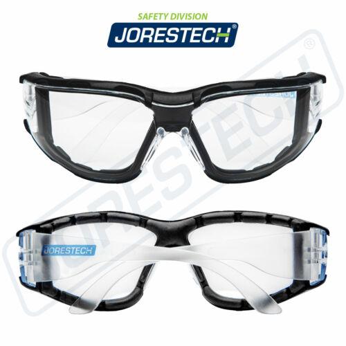 Safety Goggles Clear Anti Fog Scratch Resistant UV Z87 Glasses JORESTECH