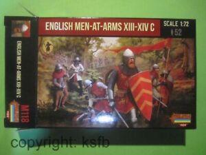 1-72-Strelets-M118-Mittelalter-England-Ritter-zu-Fuss-english-Men-at-Arms-Knights