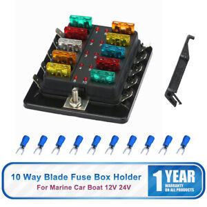 Boite-a-Fusible-Bloc-ATC-ATO-10Voie-Lame-Fusible-Porte-de-Batterie-Voiture-FR